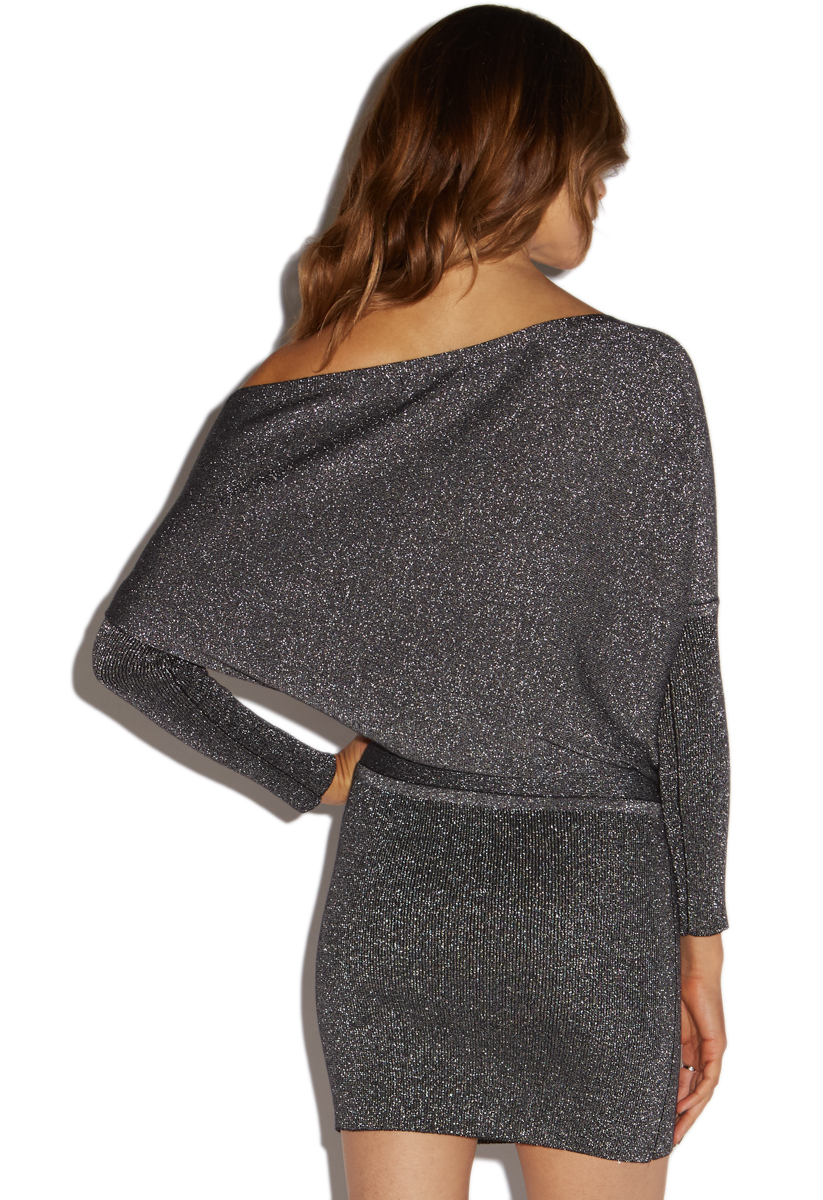 Off Shoulder Sweater Dress Shoedazzle