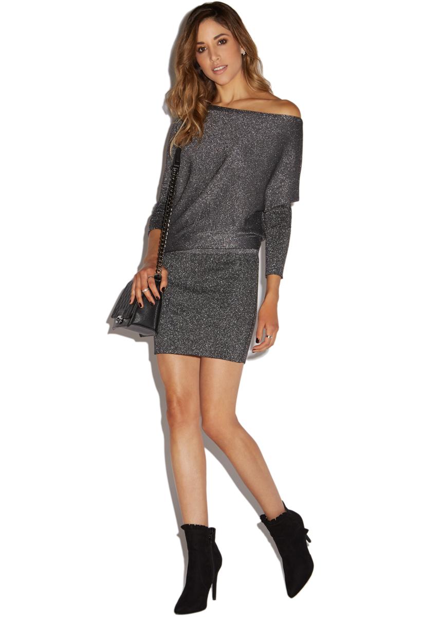 30d3ee81f88b OFF SHOULDER SWEATER DRESS - ShoeDazzle