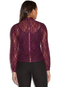 ZIP BACK LACE BLOUSE