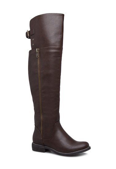 ced725625a Material  Faux-leather. Imported. Color  BROWN  Sizing  Shaft height   calf  circumference increases or decreases by 0.5