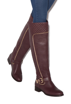 AMY QUILTED FLAT BOOT
