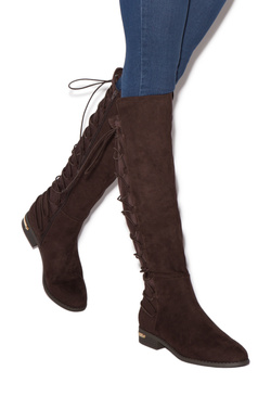 CELESTE BACK LACE-UP FLAT BOOT