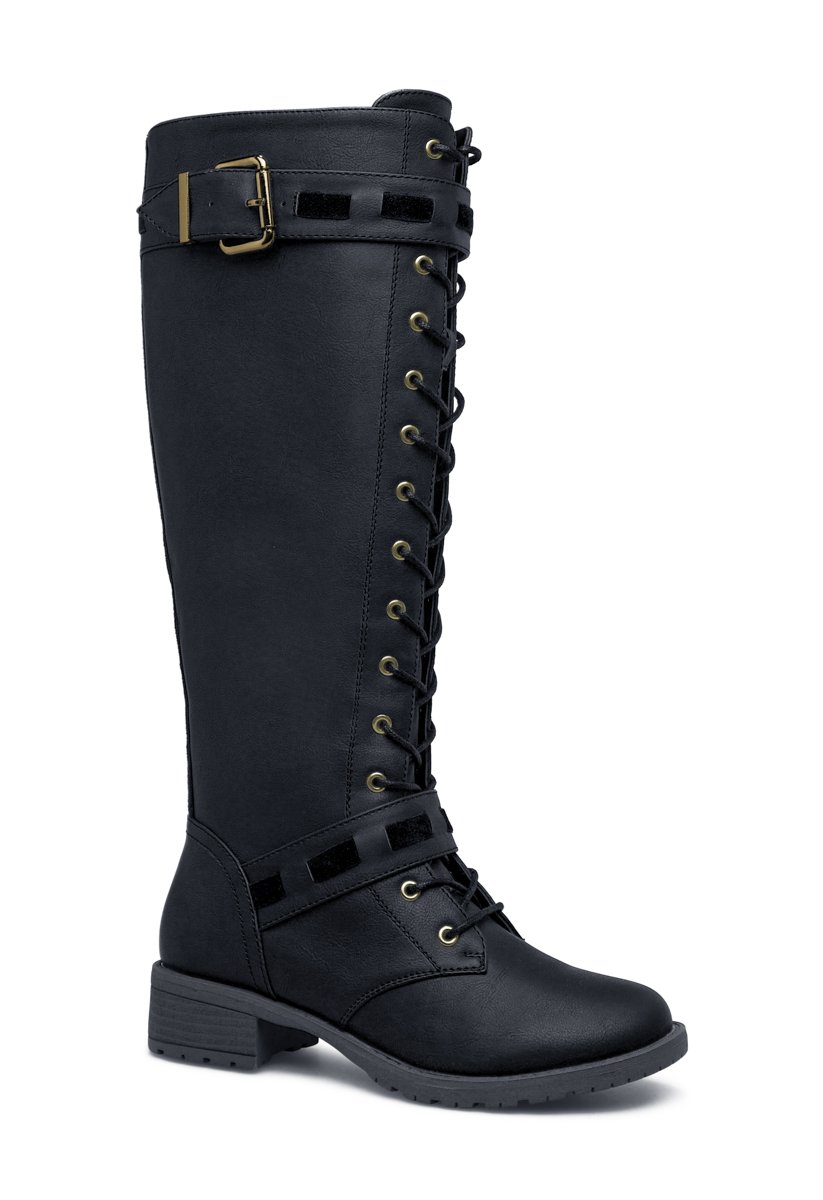 buy wedge boots comforter move for cold women black high knee weather in collections otbt stylish on comfortable