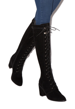 NESSA LACE-UP HEELED BOOT