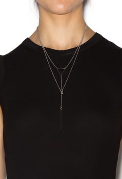 THE RIGHT TRIANGLE NECKLACE