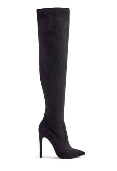 98f804a5a33 Color  BLACK FAUX SUEDE  Sizing  Shaft height   calf circumference  increases or decreases by 0.5