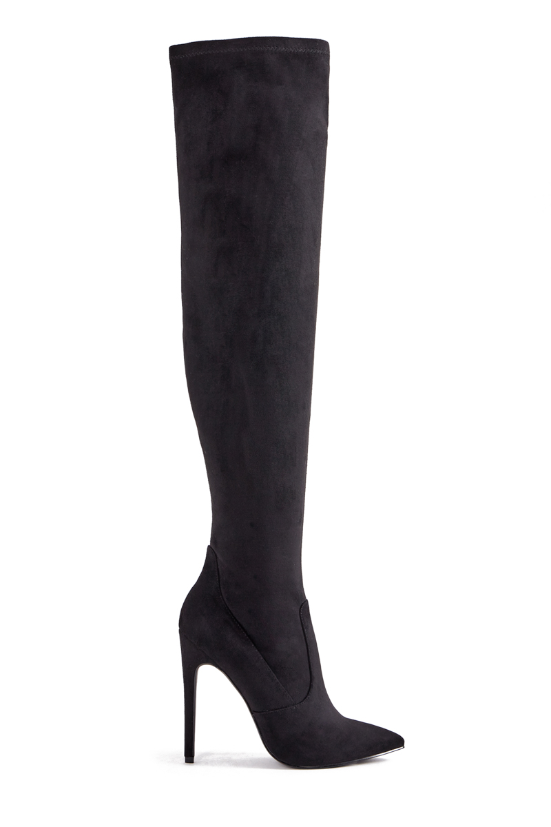 7a0487a6009 Imported. Color  BLACK FAUX SUEDE  Sizing  Shaft height   calf  circumference increases or decreases by 0.5