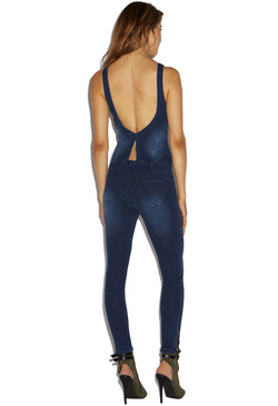 SLIM ZIP UP JUMPSUIT