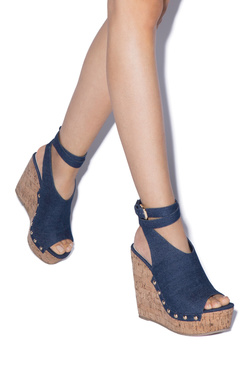 SARAHH ANKLE TIE WEDGE