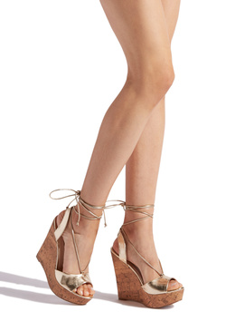 YAHARI ANKLE WRAPPED WEDGE