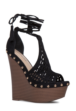 YVES LASER CUT DETAILED WEDGE