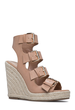 CAELLA BUCKLED DETAIL WEDGE