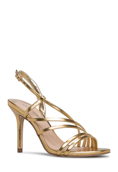 3866494348db Material  FAUX-LEATHER  Fit  TRUE TO SIZE  Color  GOLD  Outside Heel  Height  3.75
