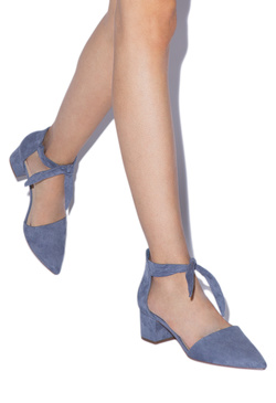 FALLON CHUNKY LOW HEEL PUMP