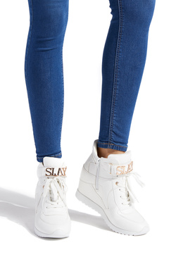 KATERINA EMBELLISHED WEDGE SNEAKER