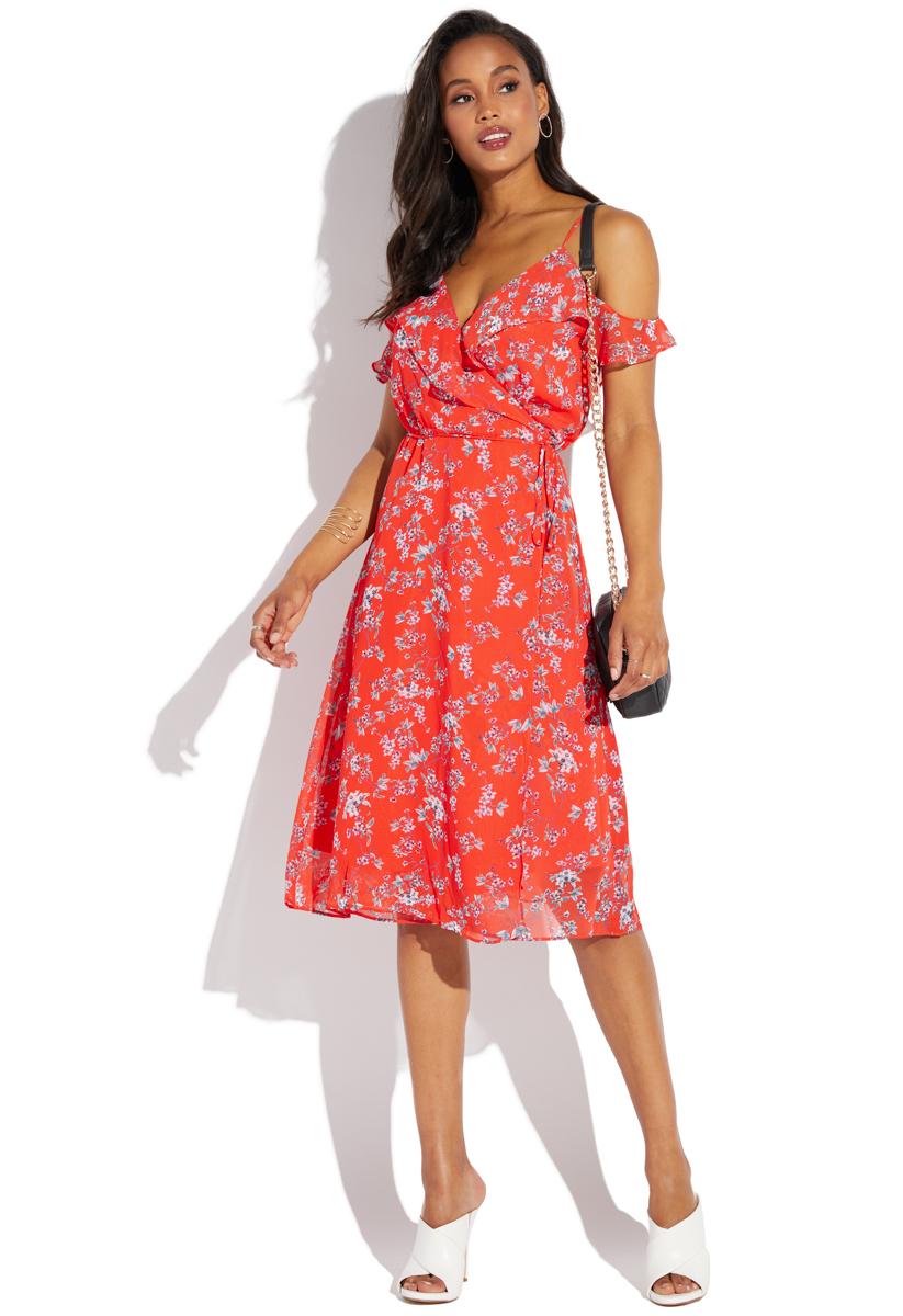 Wrap Sleeveless Dress