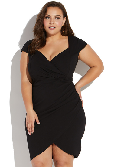 Plus Size Short Sleeve Dress With Sweetheart Neckline Shoedazzle