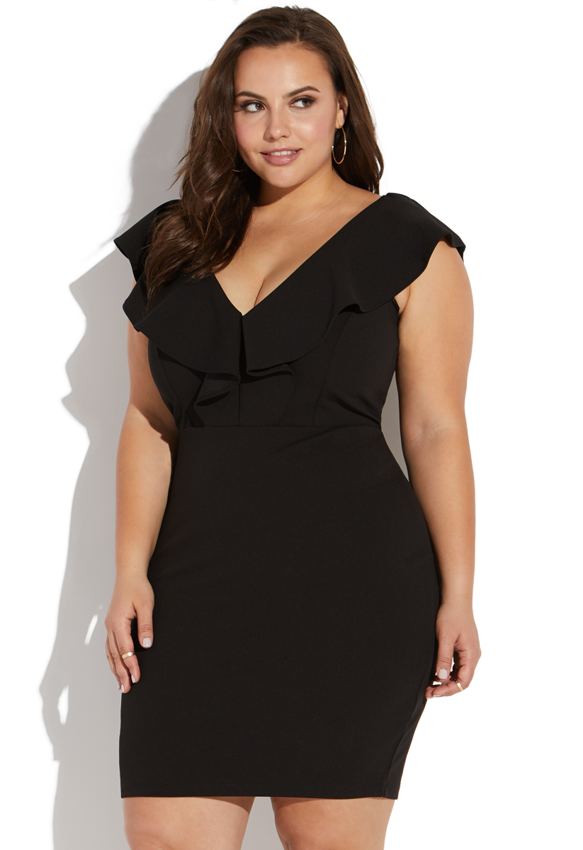 Store united dress with size plus bodycon bottom ruffle usa box knoxville