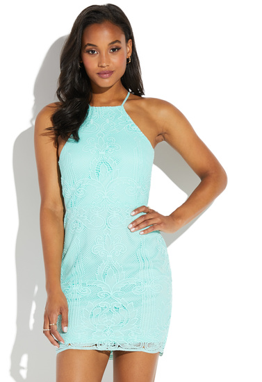 f90b98aa31b LACE DRESS WITH OPEN BACK - ShoeDazzle