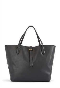 ALL FAUX LEATHER TOTE