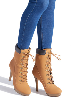 DAYLENE STILETTO HIKER BOOTIE