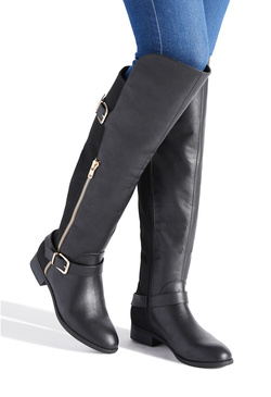 AMAR BUCKLED FLAT BOOT