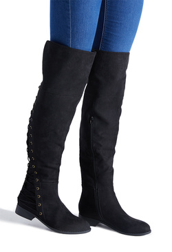 BRIENNE CORSET FLAT BOOT