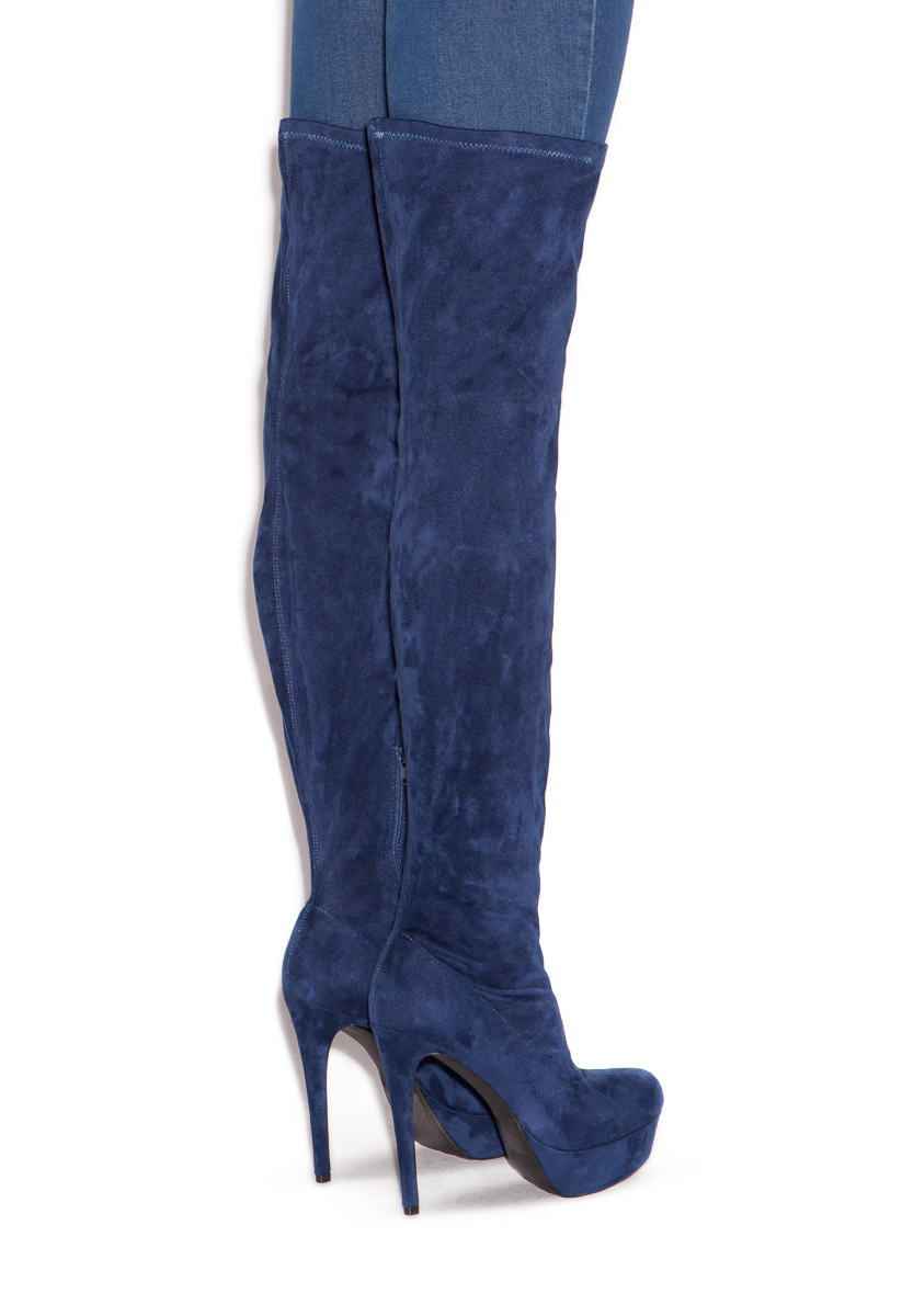 6ea1d7cbab0 PHOEBE STRETCH THIGH-HIGH BOOT - ShoeDazzle