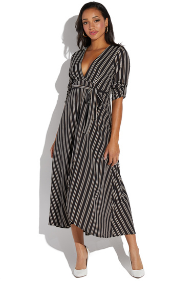 4f9812ad1023 LONG SLEEVE STRIPED MAXI DRESS - ShoeDazzle