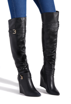 NATASHA SLOUCHY WEDGE BOOT