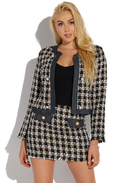 BOUCLE JACKET & SKIRT SET