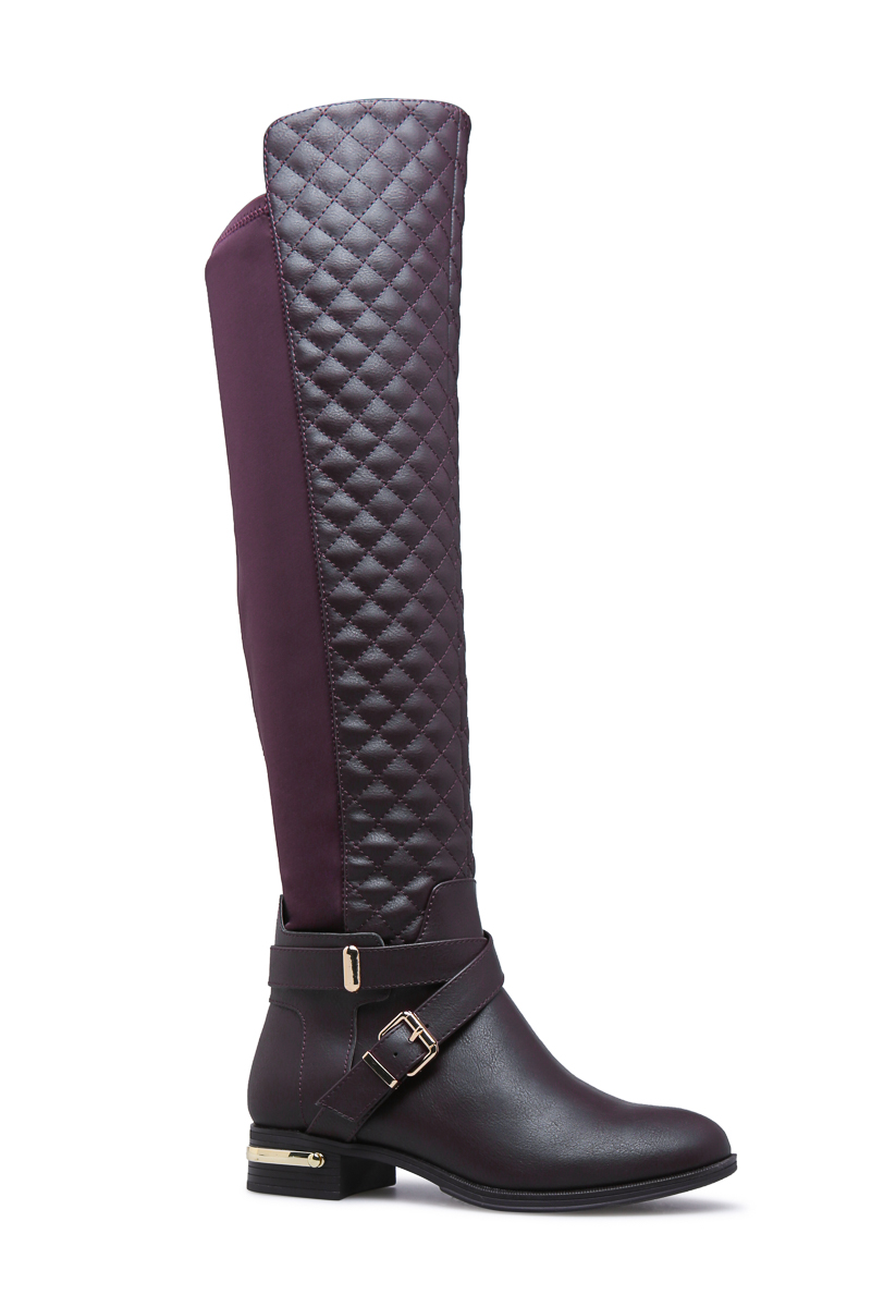 9dcbfb160b9 ANNABETH QUILTED FLAT BOOT