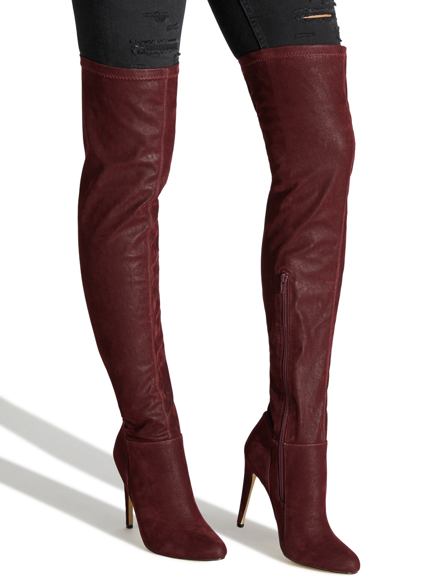 322070638f6 Imported. Color  BORDEAUX  Sizing  Shaft height   calf circumference  increases or decreases by 0.5