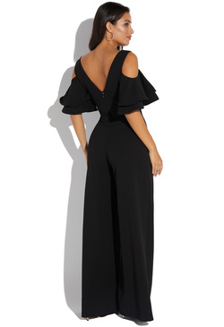 2dd0403231a COLD SHOULDER LAYERED SLEEVE JUMPSUIT COLD SHOULDER LAYERED SLEEVE JUMPSUIT