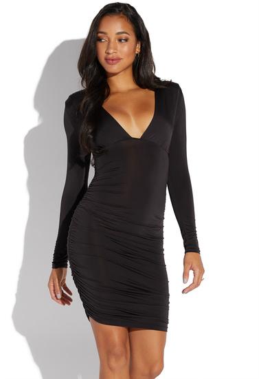 Low Cut Ruched Dress Shoedazzle