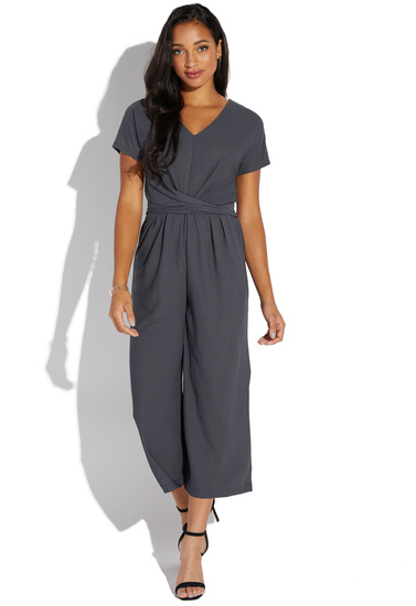 f6f0e129cf68 SHORT SLEEVE CROPPED JUMPSUIT - ShoeDazzle