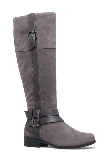 33edec40ec1e Material: Faux-Leather/Faux-Suede; Calf Circumference: Reg: 16.5