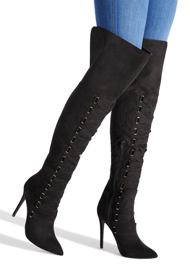 648dc2363e8 OLIVIA THIGH-HIGH CORSET BOOT - ShoeDazzle