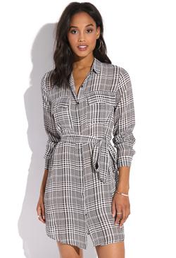 4600f098d9c12f PLAID SHIRT DRESS ...