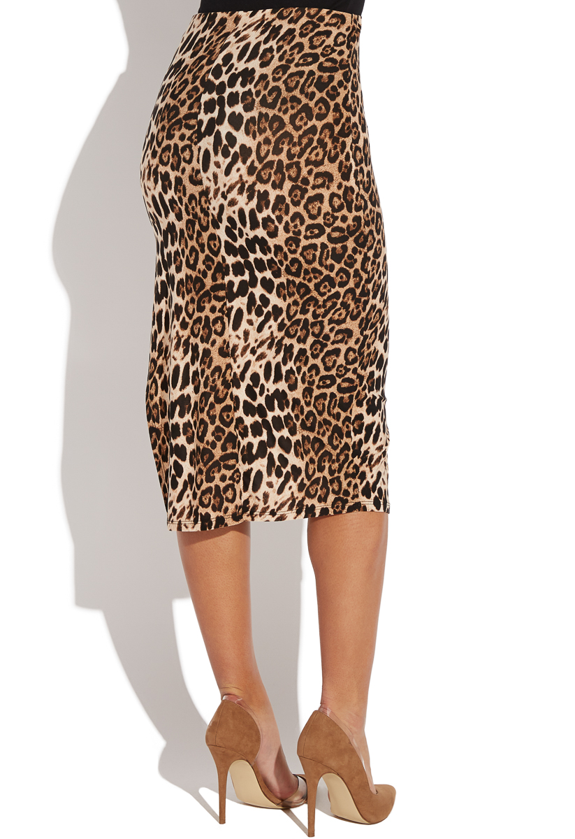 abcec431fbc8a Fabrication: 96% Polyester/4% Spandex; Color: Leopard; Length: 29