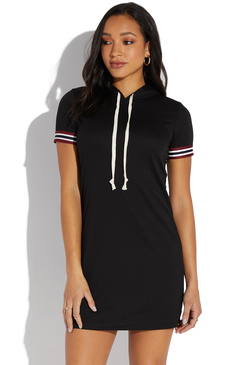 d0bacf711e81 FRENCH TERRY HOODIE DRESS ...