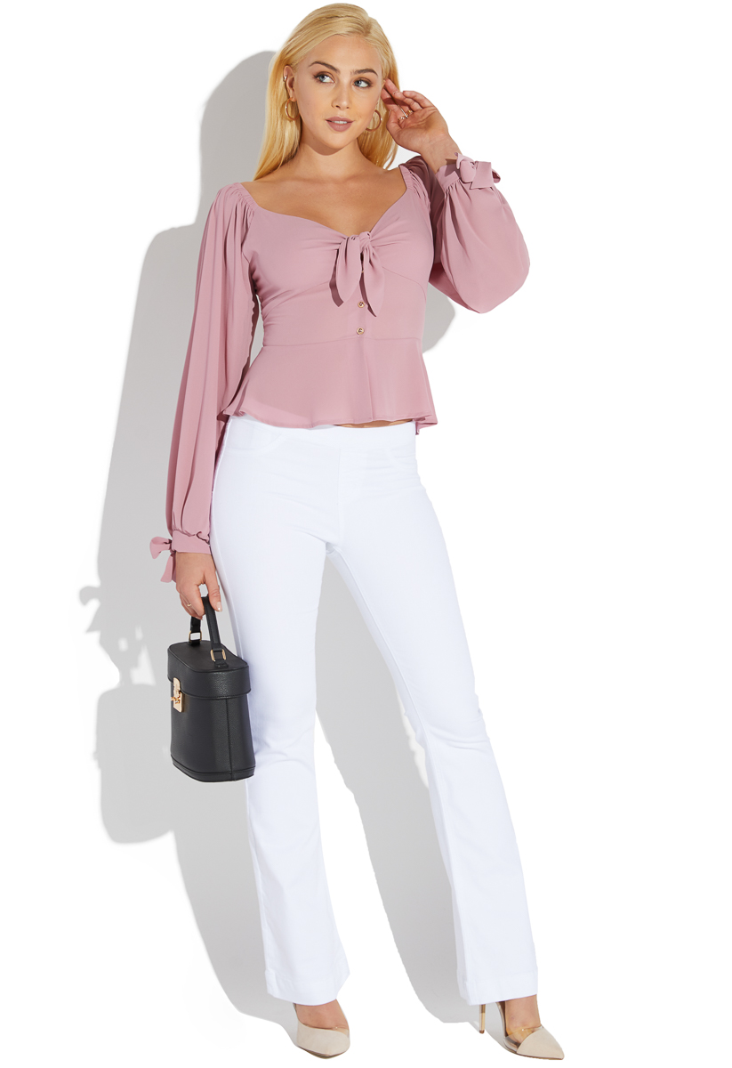 2c48b1126a8d5 BOW FRONT BLOUSE - ShoeDazzle