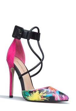 DONATELLA BUCKLE STRAP PUMP