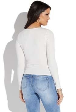 1ab501e558 SQUARE NECK LONG SLEEVE TOP SQUARE NECK LONG SLEEVE TOP