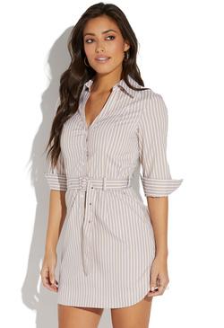 b65bf5d06655 BELTED SHIRT DRESS ...
