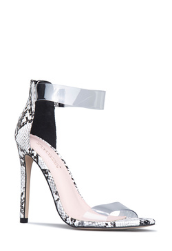 SEE RIGHT THROUGH YOU STILETTO HEELED SANDAL