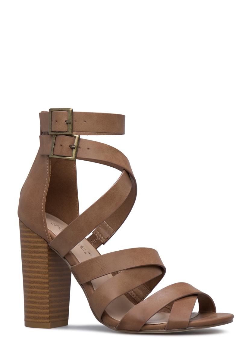 CAROLYN CAGED BLOCK HEEL - ShoeDazzle