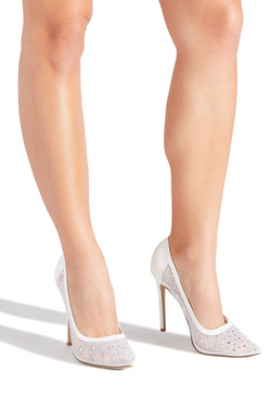 DIAMONDS ARE FOREVER EMELLISHED MESH PUMP