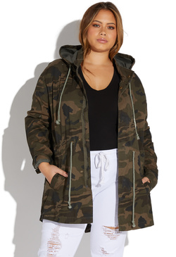 4db4bfd50e7b96 PLUS SIZE CAMO HOODED ANORAK ...