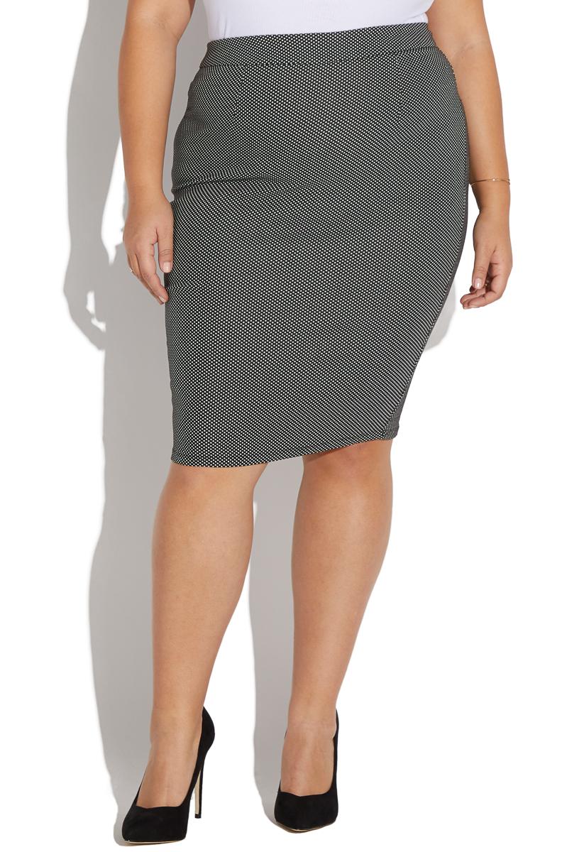 879fbdd1a509fc Plus Size Black Knit Skirt